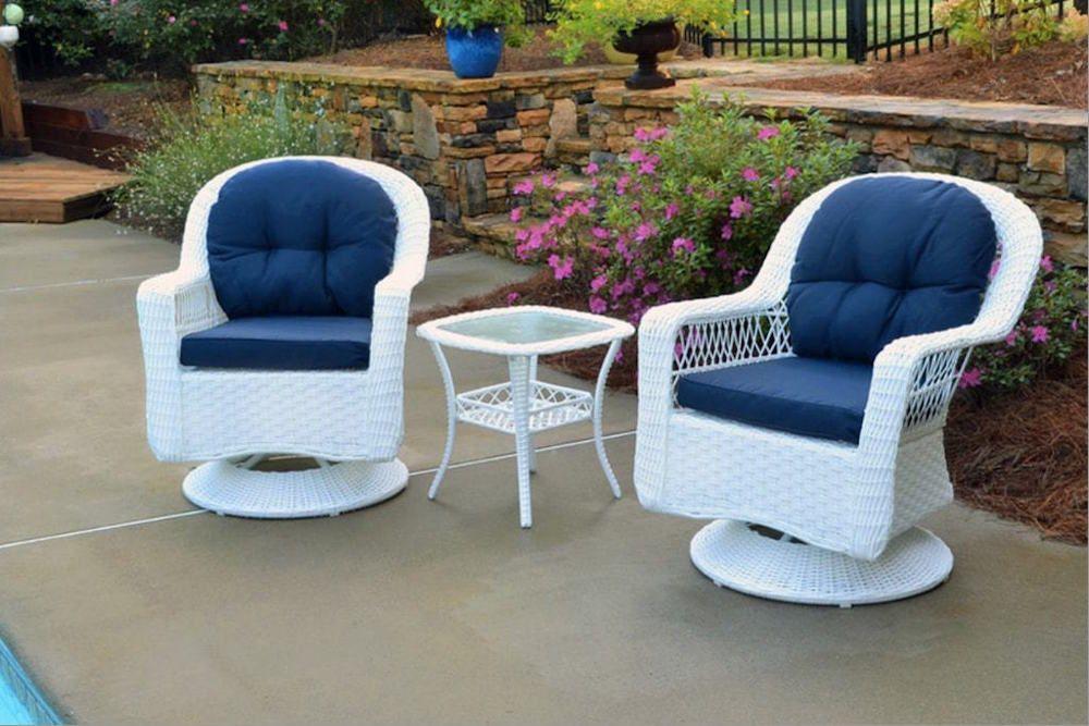 Outdoor Patio Furniture 3 Piece Bistro Set Outdoor Swivel Glider