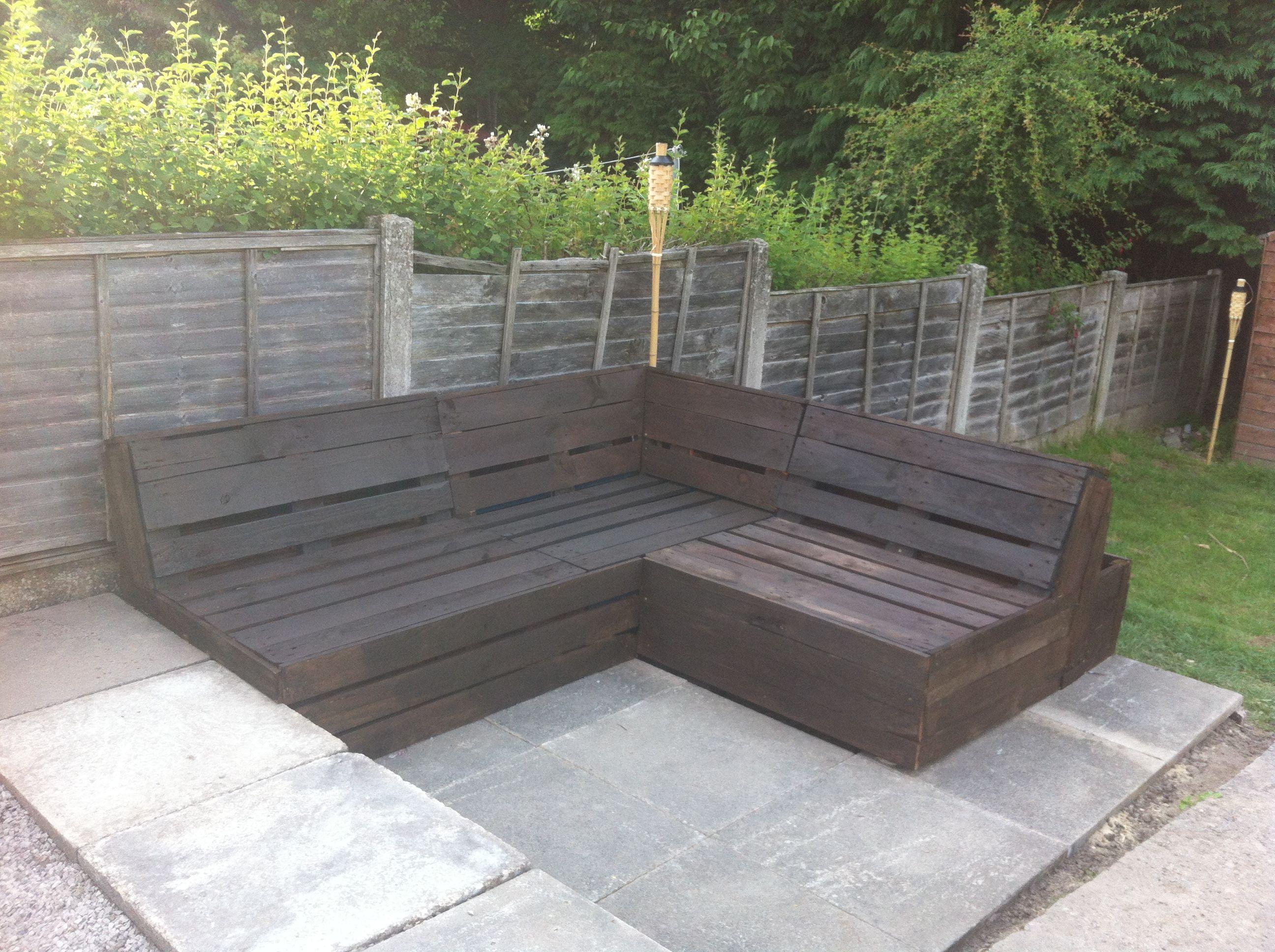 pallet furniture for my patio misschien ga ik deze palletbank
