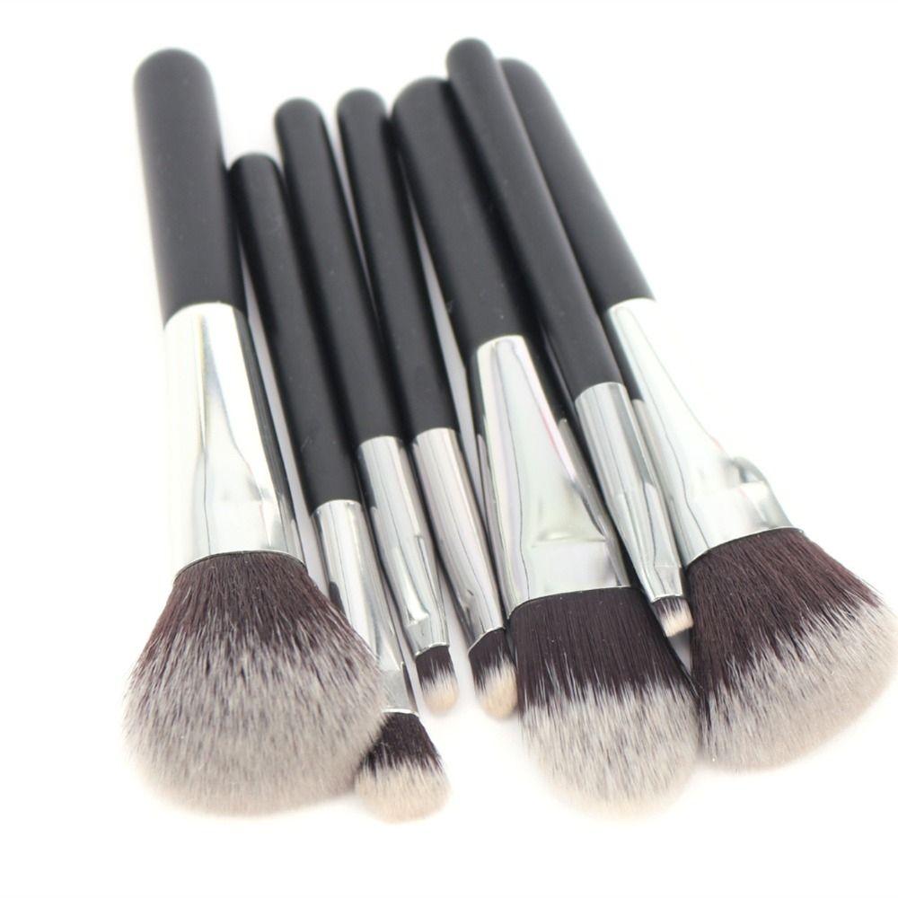 Vela Makeup Brush Set Travel Mini 7pcs Makeup Tools Kit Good Quality Slim Beauty Set Makeup Brush Set Travel Makeup Brushes Vegan Makeup Brushes