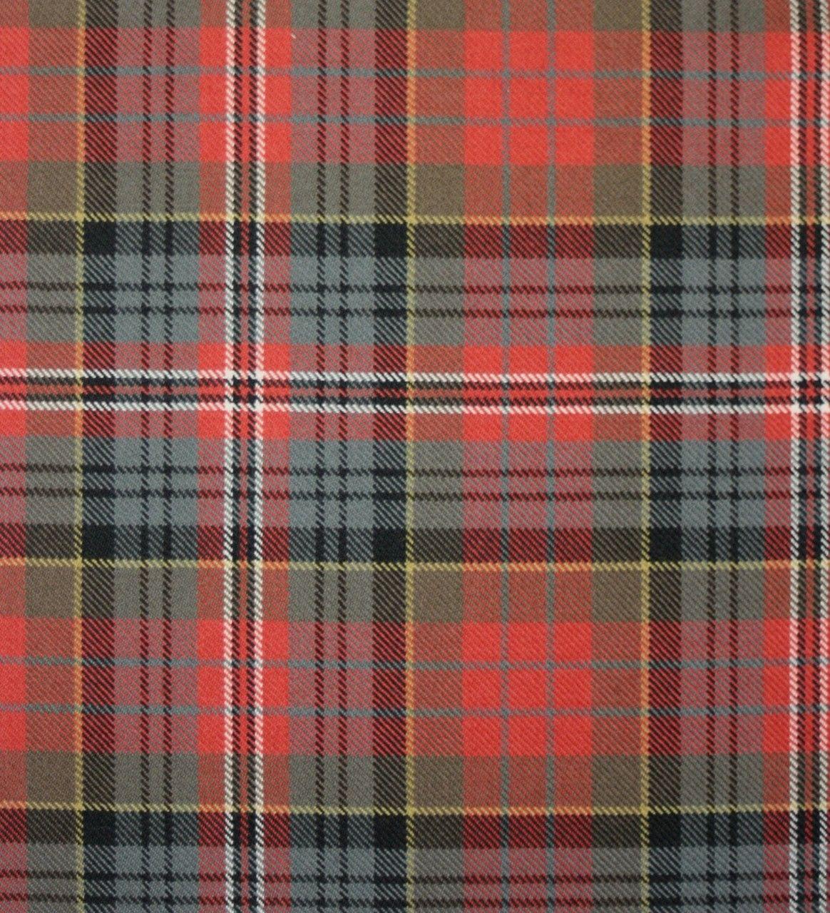 MacPherson Clan Weathered Heavy Weight Tartan Fabric | Lochcarron of Scotland
