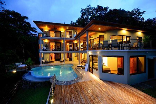 Casa Anjali from the back.  7 bedrooms, refreshing pool, and magnificent view!