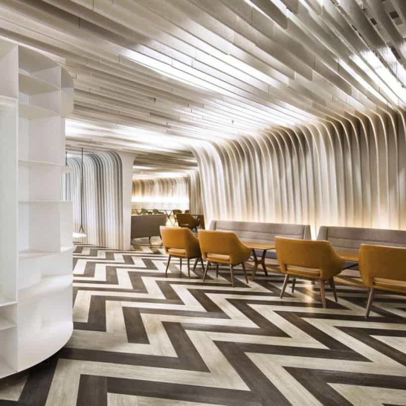 3D Concept Flooring From A Futuristic Restaurant Theme Nice Idea For Dining Or Others Room Several Captivating Accents Of Commercial Tile