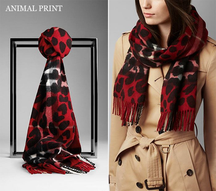 burberry animal print scarf