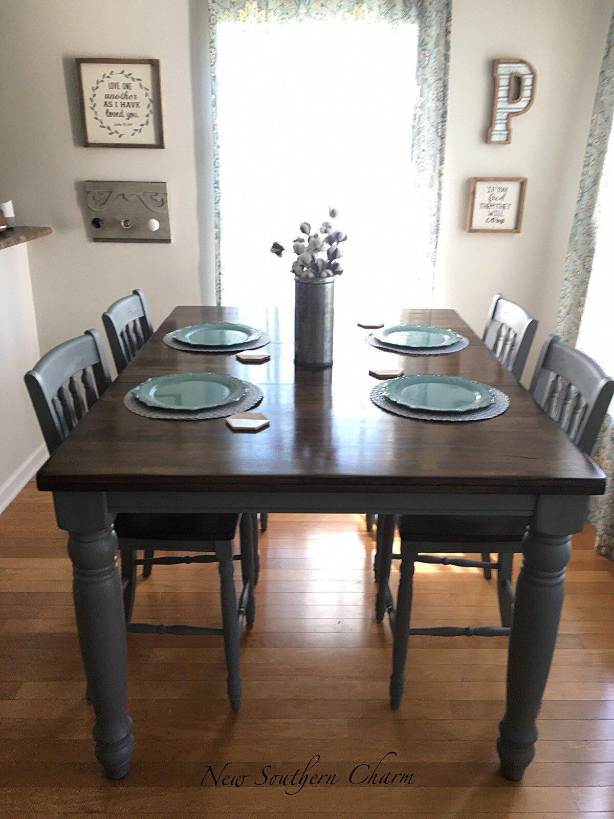 New! Adjustable Farmhouse Table Counter Height Table and