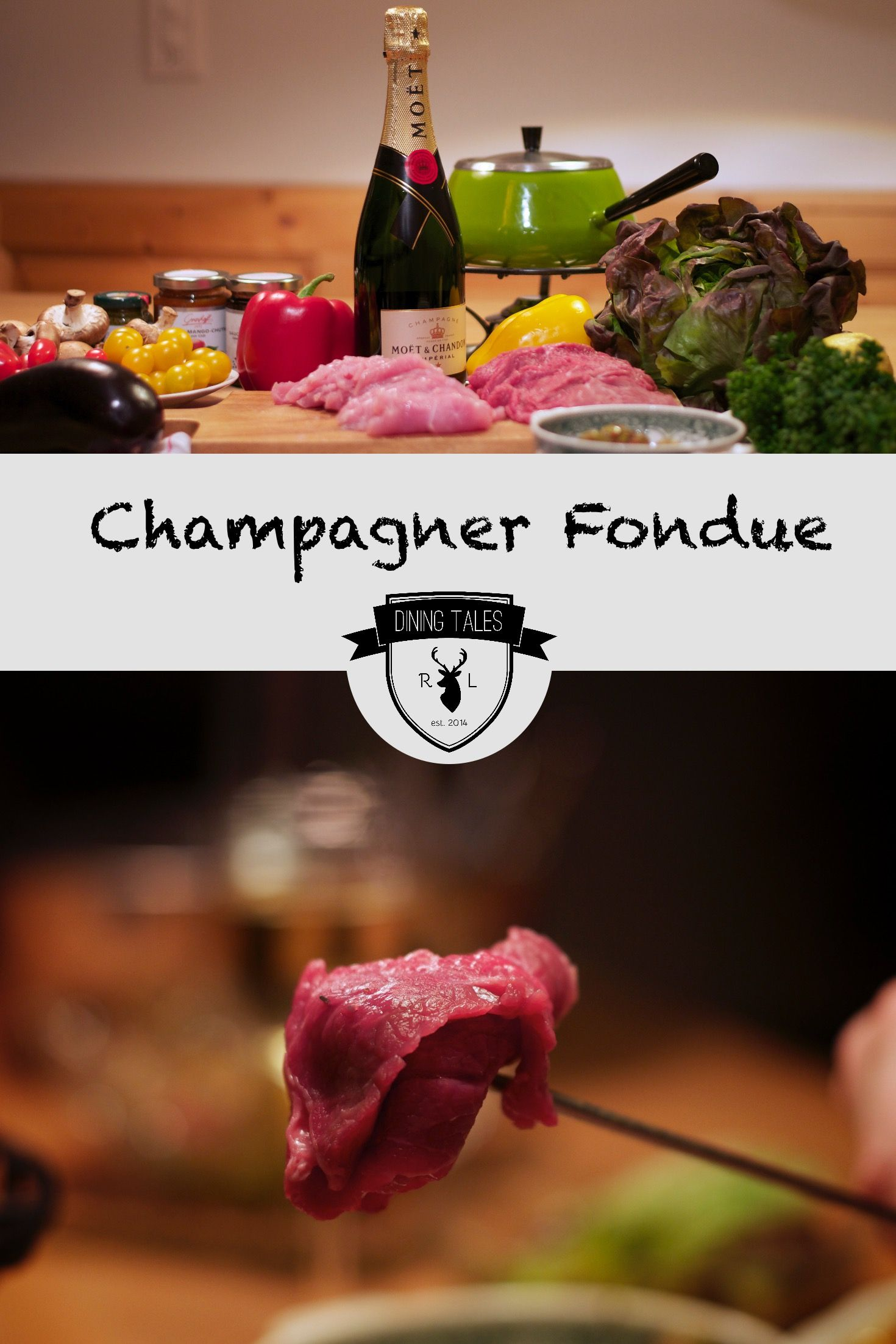 champagnerfondue f rs silvester dinner zu zweit blogger rezepte fondue silvester und. Black Bedroom Furniture Sets. Home Design Ideas