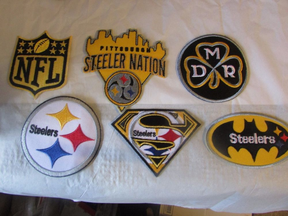 Sew On Patch FOOTBALL Pittsburgh Steelers Embroidered Iron On