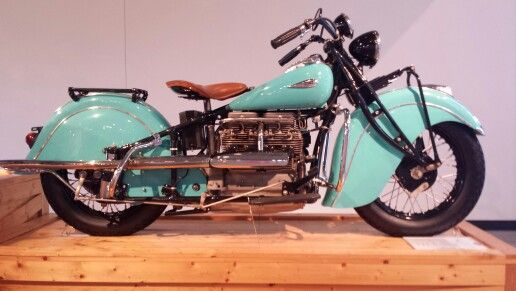 1940 Indian Four Motorcycle In Aqua Classic Cars Trucks Classic Cars Motorcycle
