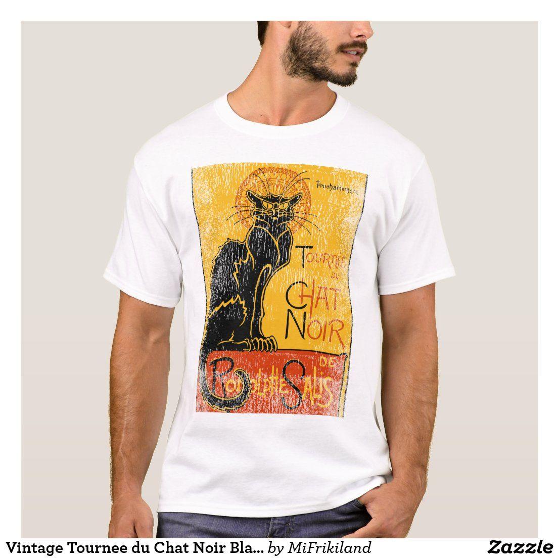 Vintage Tournee Du Chat Noir Black Cat Halloween T Shirt Zazzle Com Black Cat Halloween Halloween Tshirts Tournee Du Chat Noir