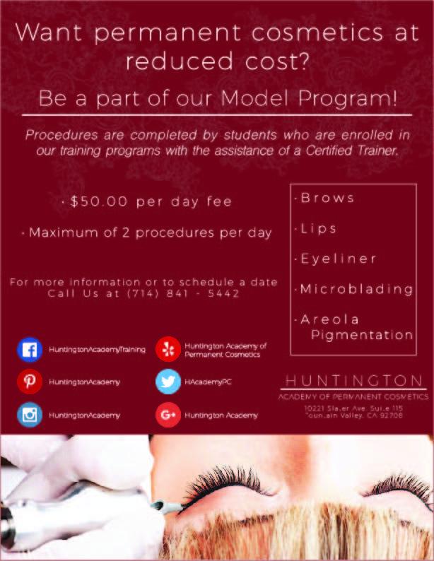 Model for Permanent Cosmetics Training Cosmetics, Model