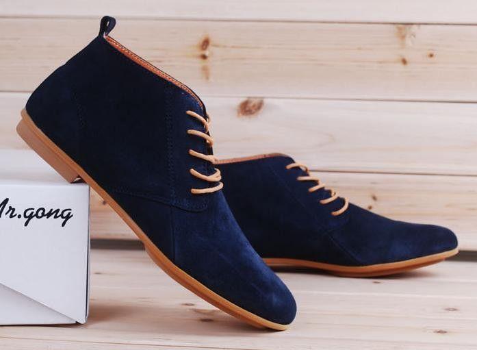 Bottes low top type desert boots en daim