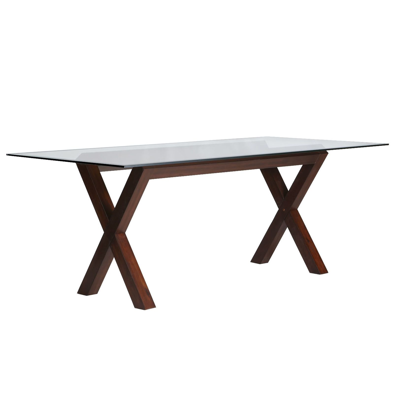 Bennett dining table base mahogany brown pier imports table