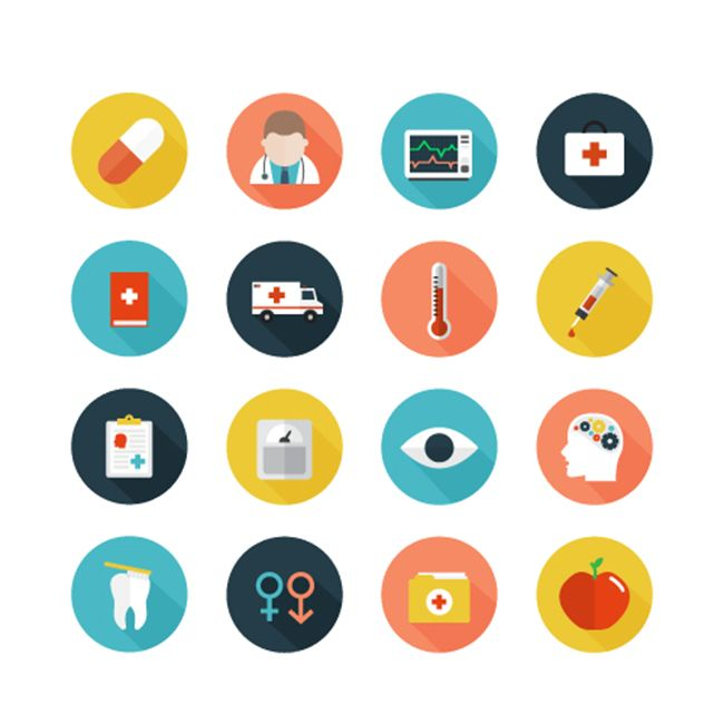 Free Healthcare Icons set Free Vector Site Download