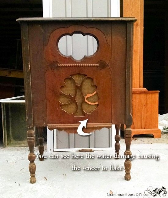 An antique radio cabinet gets new life as a kitchen island ...