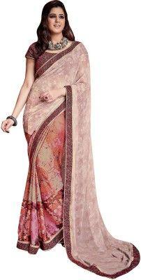 e8ea0f0099 Shaily Retails Printed Fashion Georgette, Satin Saree(Multicolor ...
