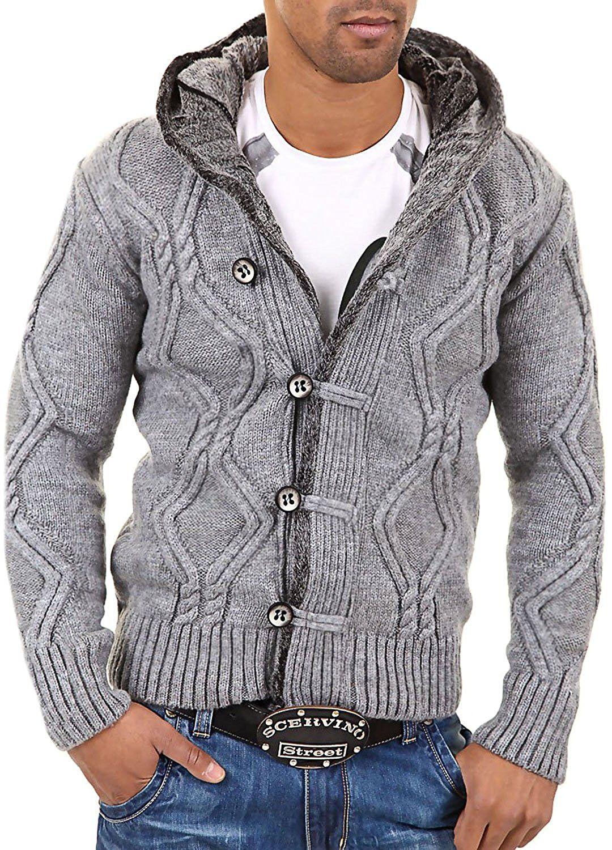 Carisma pull en tricot avec capuche 7013  gris, L   Amazon.fr  Vêtements et  accessoires 651ad3632fa