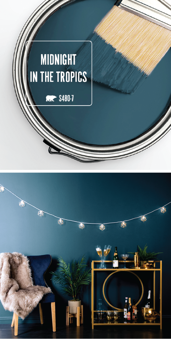 The Key To Achieving This Stylish Look Is A Fresh Coat Of Behr Paint In Midnight