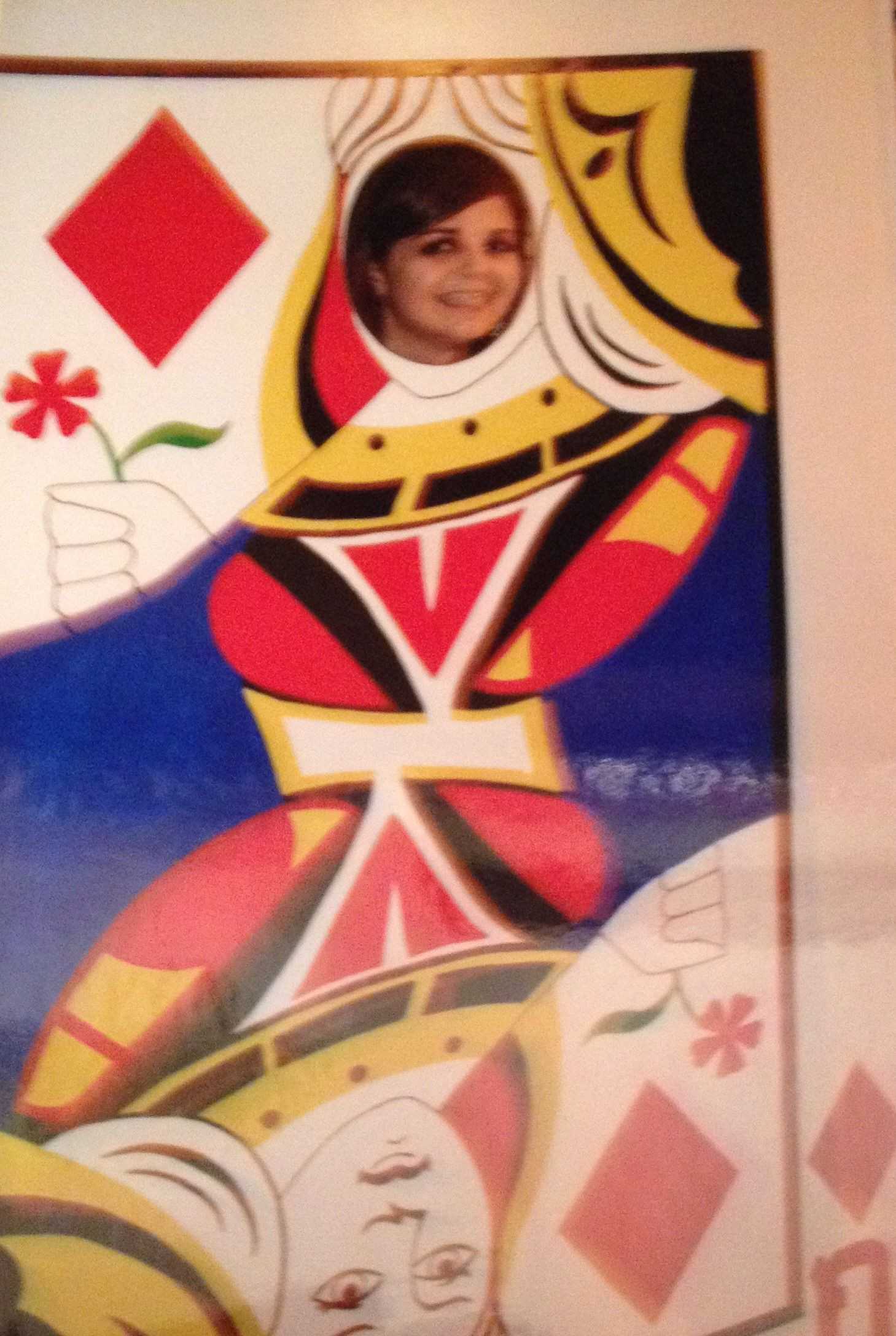 full size queen of hearts face cut out board - Face In Hole Halloween