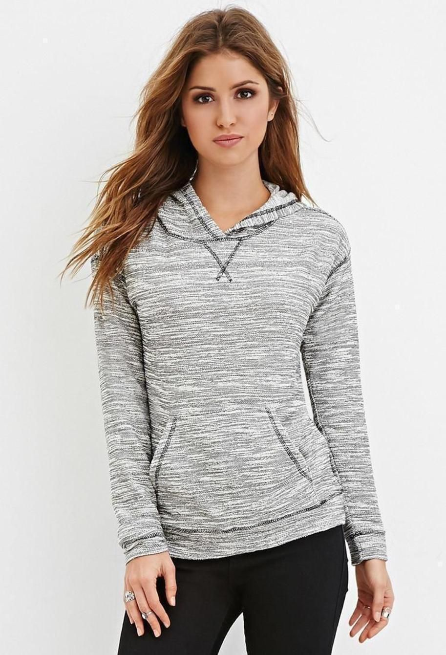 Heathered Knit Hoodie. ► get more @rohitanshu ◄