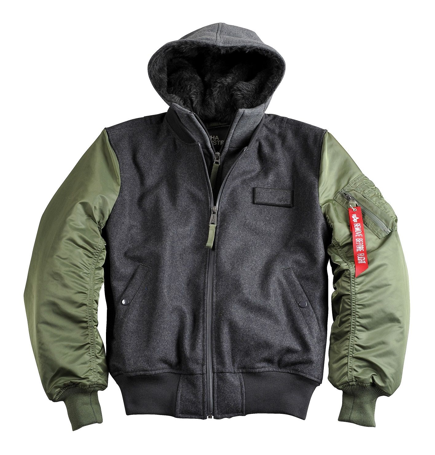 alpha industries flight jacket ma 1 d tec wool alpha. Black Bedroom Furniture Sets. Home Design Ideas