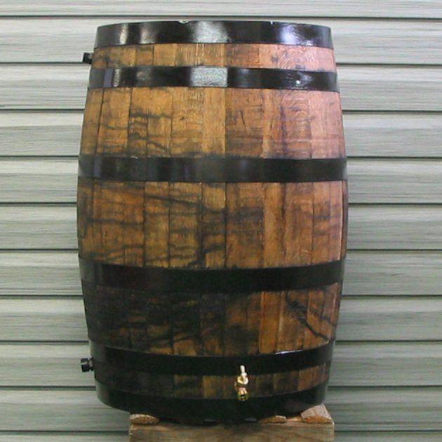 Upcycle 54 Gal Oak Wooden Rain Barrel Rain Barrel Wooden Barrel Water Barrel