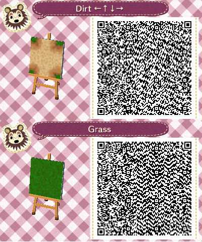 Acnl Dirt Path Set 4 Middle Intersection And Solid Grass Tile