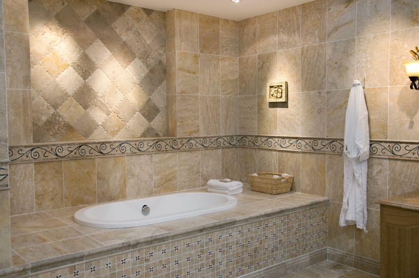 17 Best images about Bathroom renovation tan/beige tub/tile/floors ...
