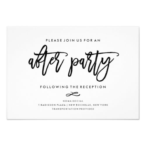 chic hand lettered wedding after party invitation in 2018 simple