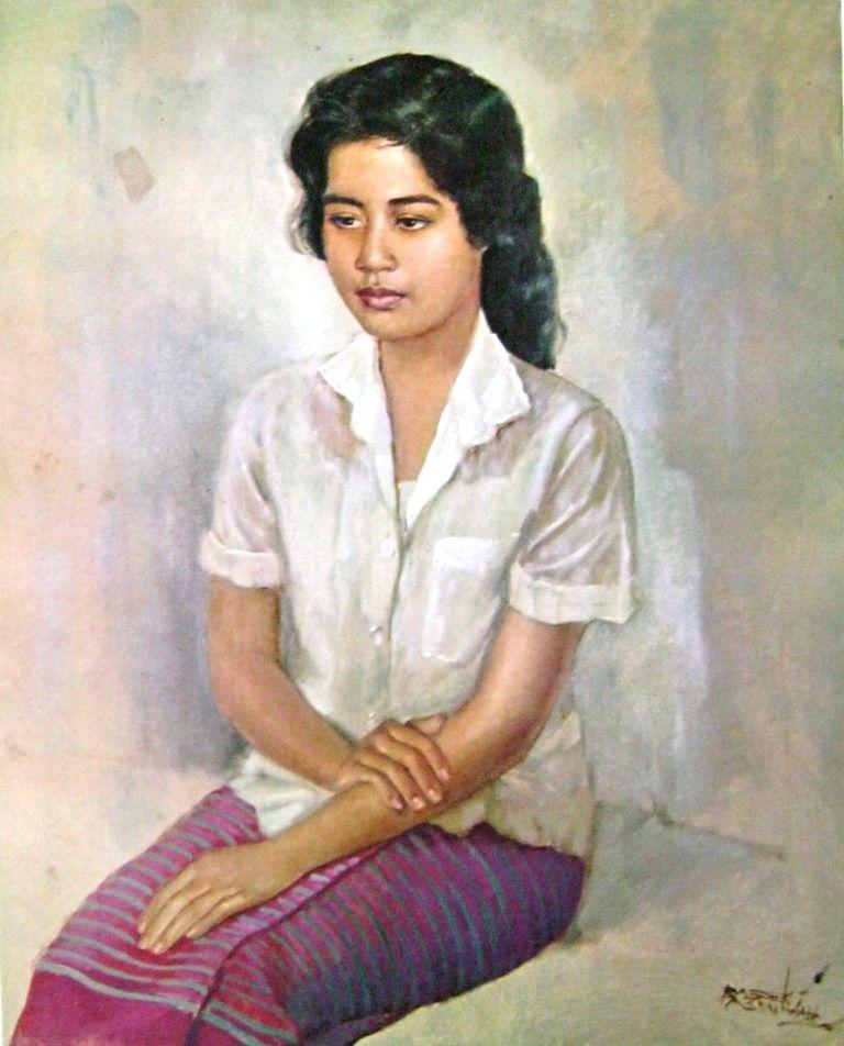 Karya Lukisan Basuki Abdullah : karya, lukisan, basuki, abdullah, Basoeki, Abdullah, Potret, Seorang, Gadis, Pelukis,, Lukisan,, Sejarah