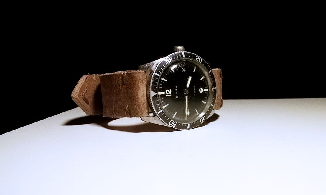 ORVIN Diver, 17 Jewels hand-winding, Swiss, 1960s  (Private Collection)