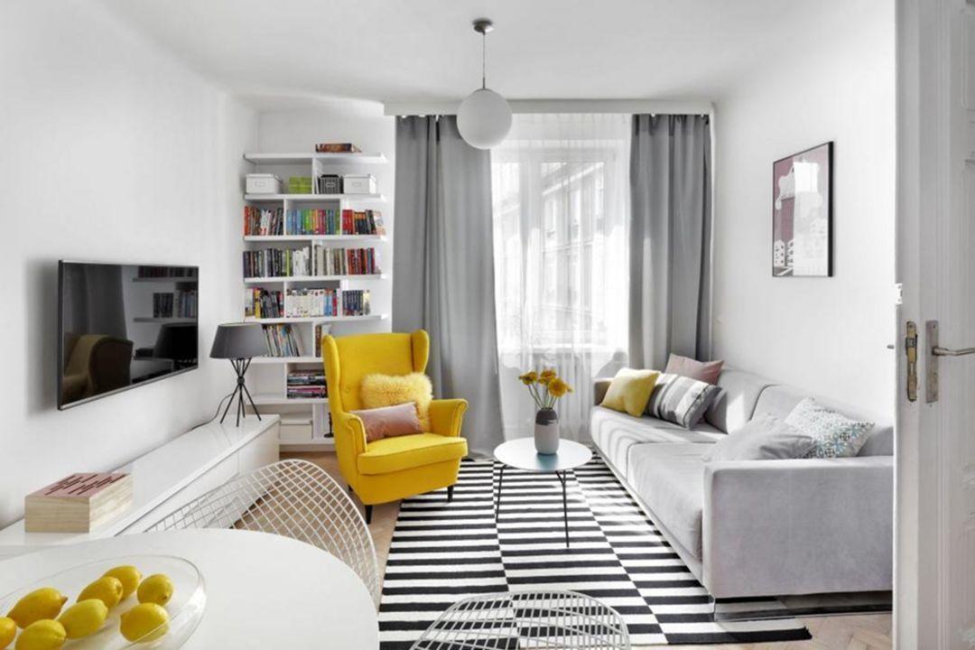 wonderful orange grey living room ideas | 20 Wonderful Spring Scandinavian Decor With Yellow Color ...