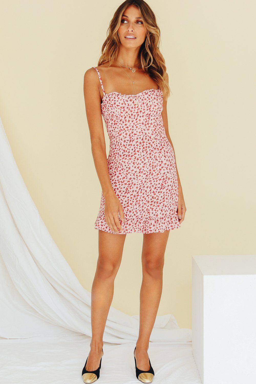 2ddd9f6d3987e Venice Floral Mini Dress    Pink in 2019