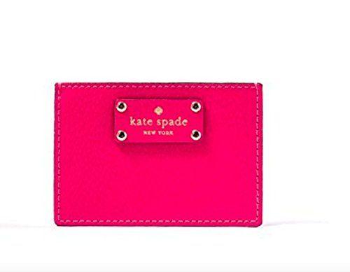 Kate Spade Wellesley Graham Business Card Holder Credit Card Holder Hot Pink Want Additional Inf Kate Spade Wellesley Stylish Wallets Business Card Holders