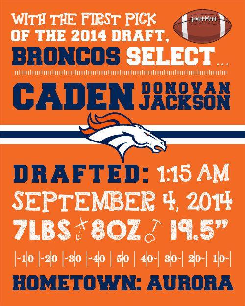 Denver Broncos Wall Decor nfl denver broncos birth announcement wallfaithfamilyfundesign