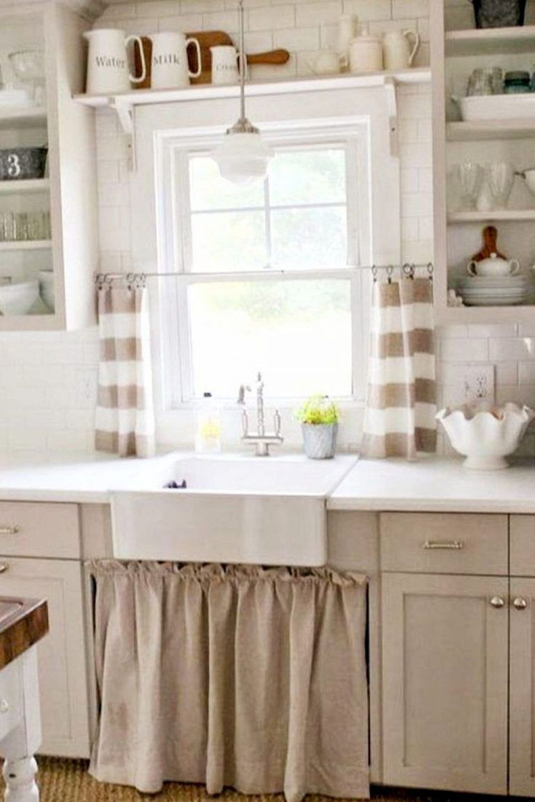 70 Pretty Farmhouse Kitchen Curtains Decor Ideas 11 Affordable Farmhouse Kitchen Kitchen Window Decor Country Kitchen Designs