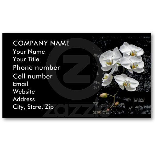 Dew-Kissed Cascading Orchids Business Cards by birdersue from Zazzle - Digital photography and design by Sue Melvin