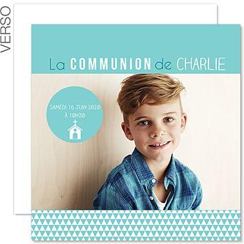Fabuleux Faire-part Communion Garçon - Multi-Typo - 0 | communion Benji  CK57