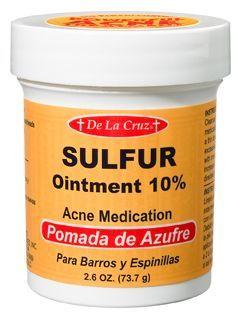 De La Cruz 10% Sulfur Ointment | ROSACEA: MAKEUP & SKINCARE