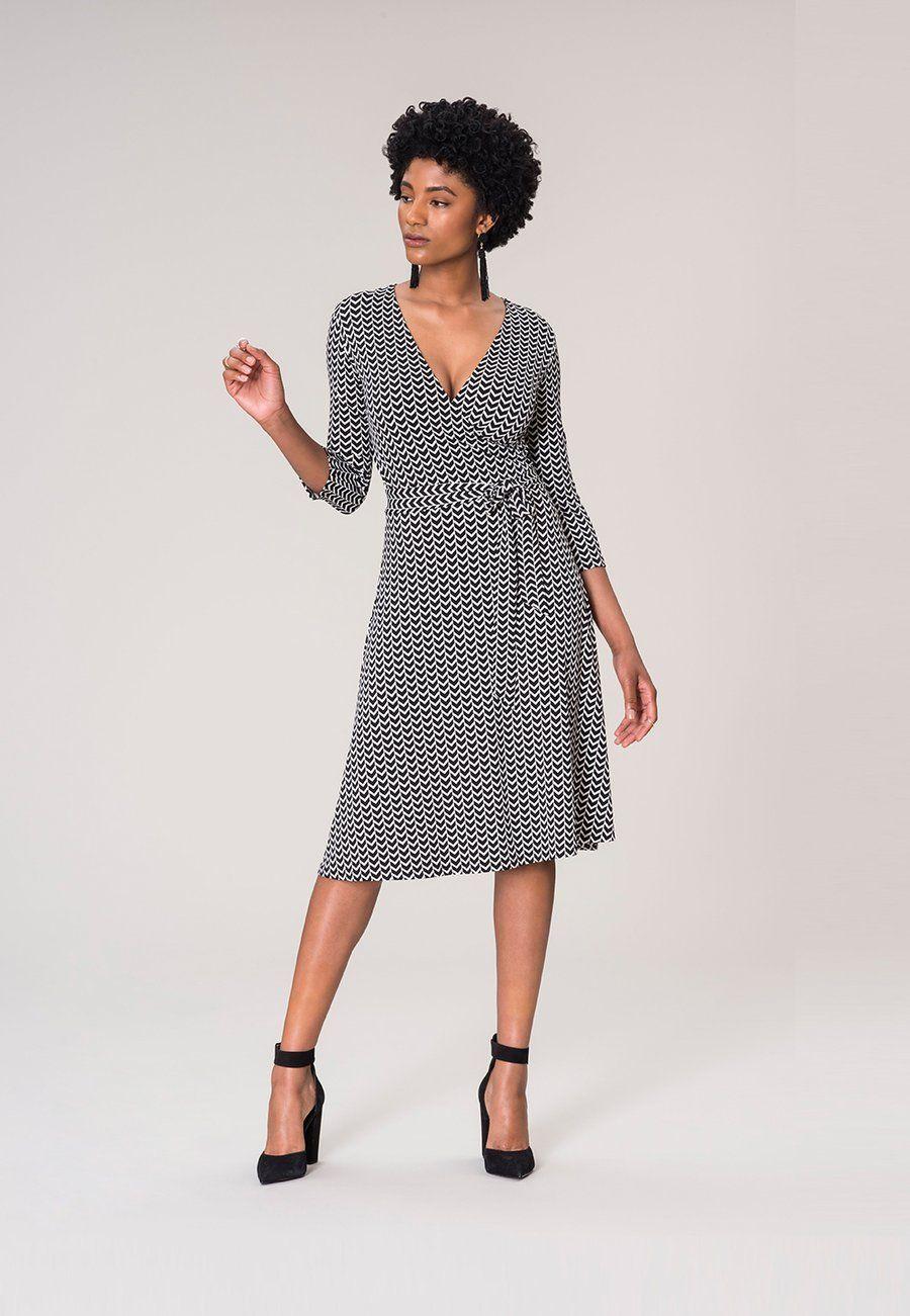 Perfect wrap dress in herringbone in my style pinterest