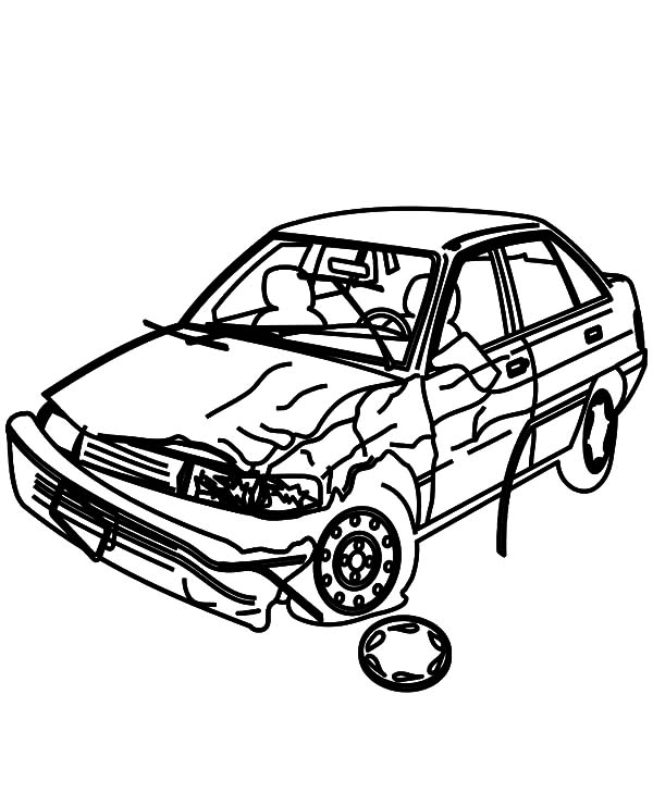Crashed Cars Picture Coloring Pages Netart Coloring Pages Cars Coloring Pages Car Pictures
