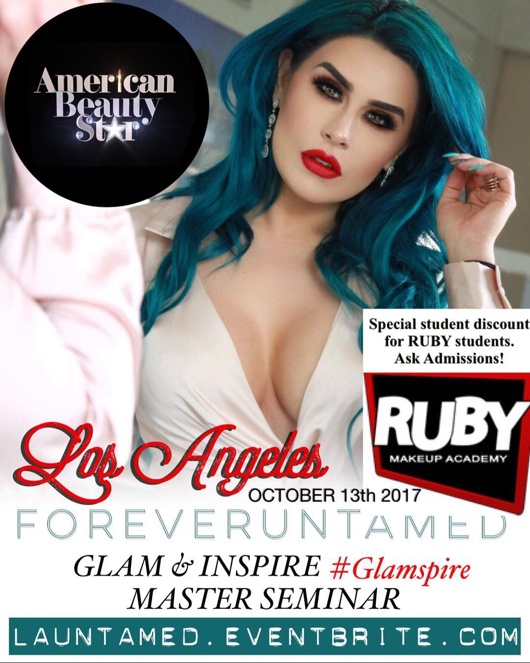 LOS ANGELES OCTOBER 13th at rubymakeupacademy in NORTH