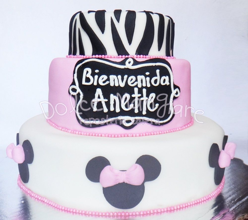 Baby Shower Minnie Cake Idea / Idea Para Pastel De Baby Shower De Mimi  Https: