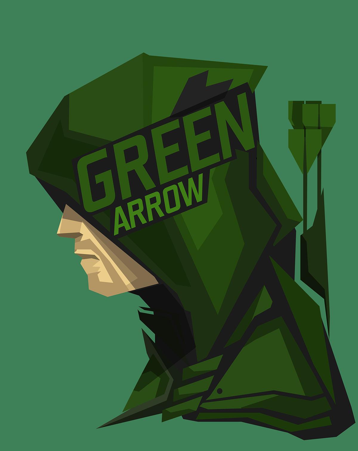 Pop Culture Stylized Head Shots Of Some Of My Fav Characters And People Green Arrow Superhero Pop Art Dc Comics Art