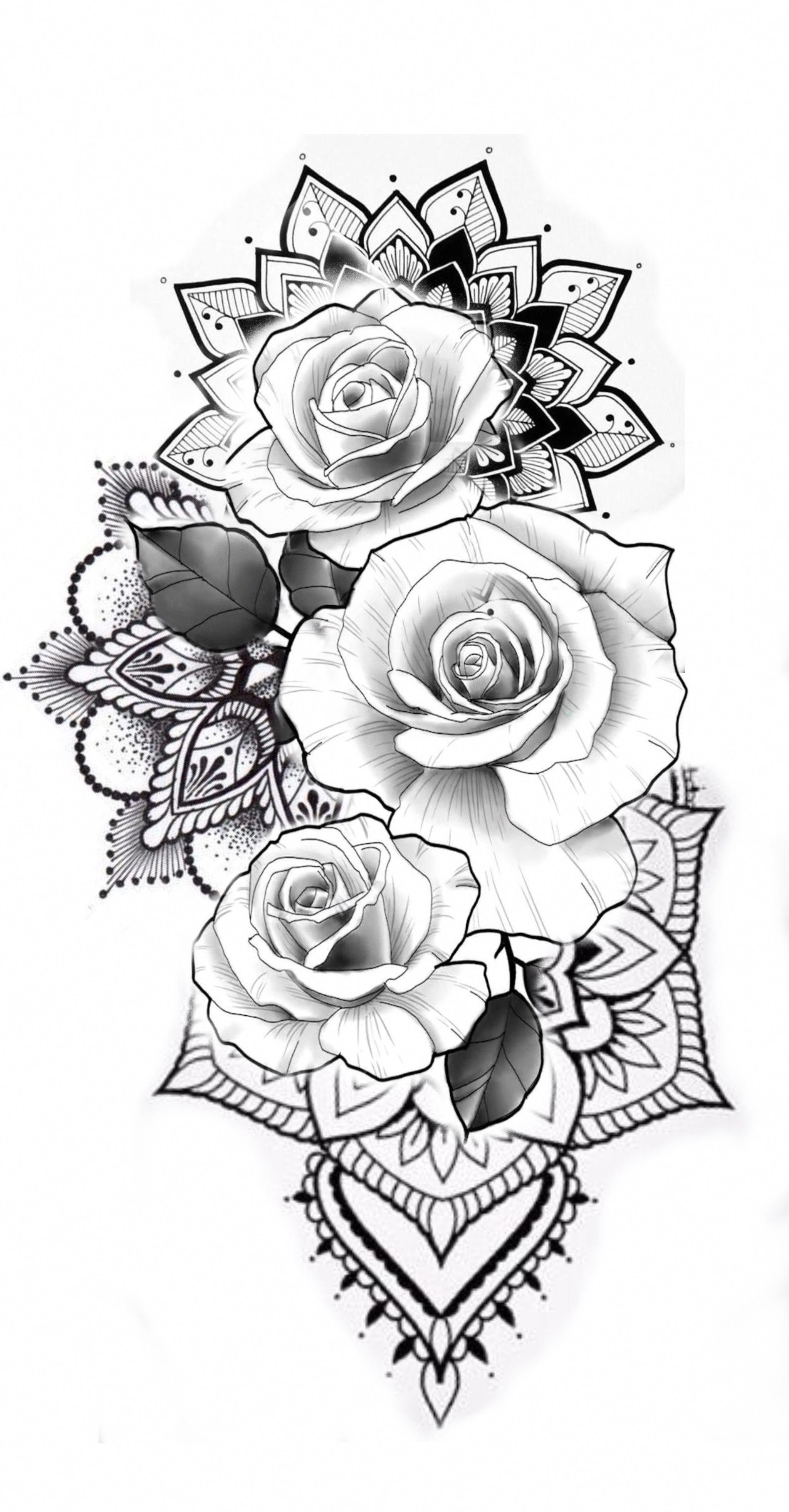 Illustrative Tattoo Mandalatattoo Half Sleeve Tattoos Designs Tattoo Sleeve Designs Floral Tattoo Design