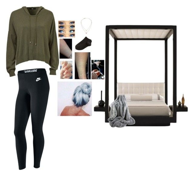 """""""Untitled #219"""" by secretslauren on Polyvore featuring NIKE, Wolford and Michael Kors"""