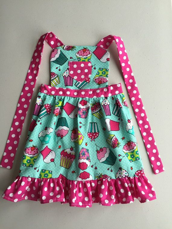kitchen apron for kids gifts child cooking toddler cherry on top cupcake girls girl birthday gift