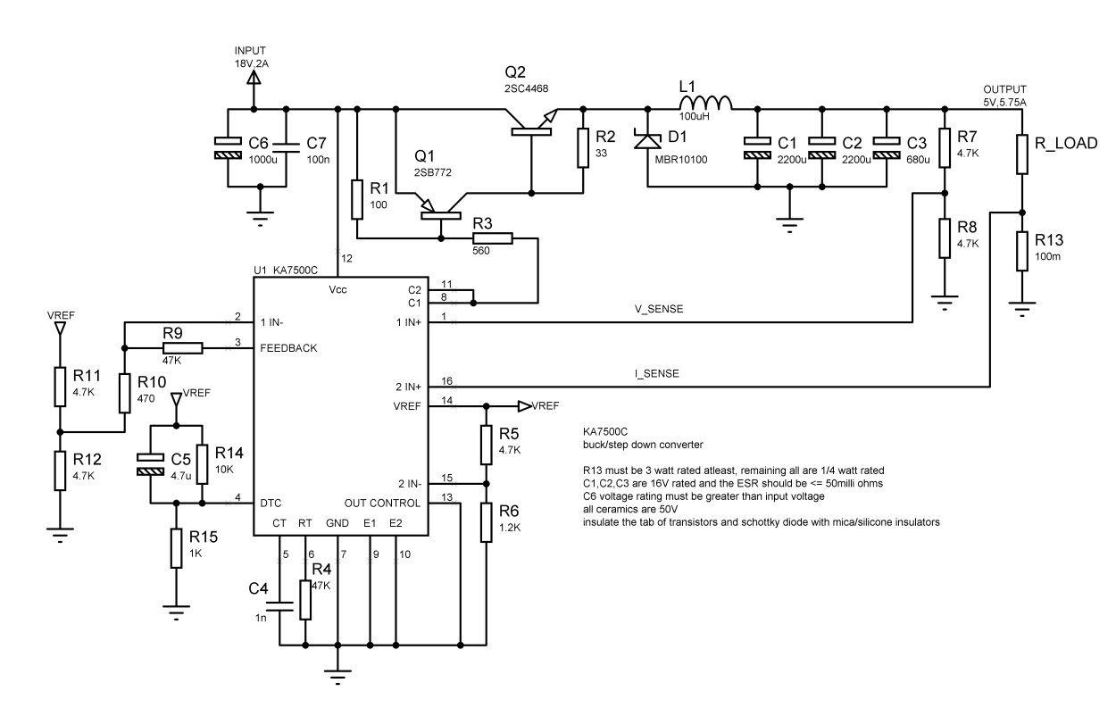 ka7500c circuit buck converter switch mode pinterest circuits rh pinterest com