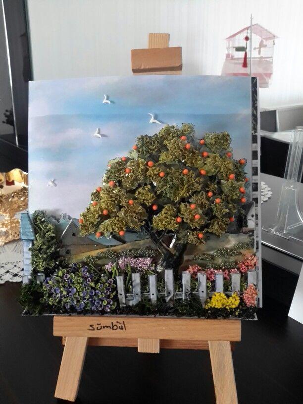 My gardenpapertoleorange treeSMBL ELDEK ATLYEM TERAP