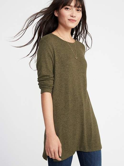 66d688cfd958d Relaxed Plush-Knit Tunic Tee for Women   Products   Women, Navy ...