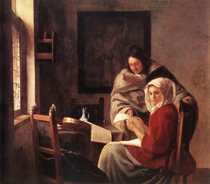 Girl Interrupted at Her Music by Johannes Vermeer #art