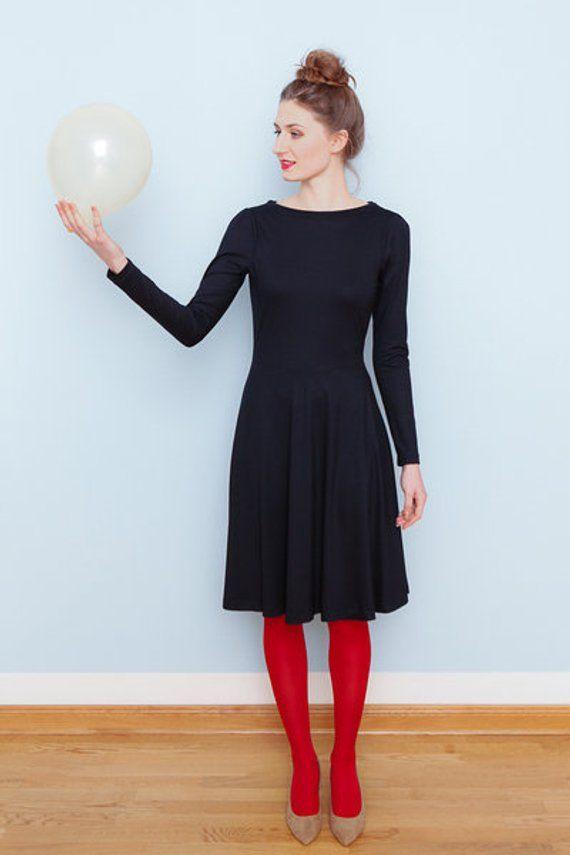 Wasserfallkleid Amber nachtblau | Etsy | Kleider, Modestil ...